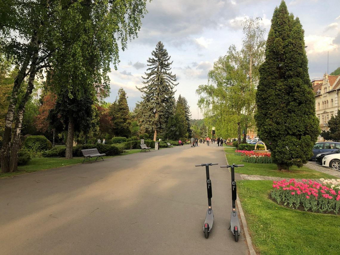 Brasov central park electric scooter rental