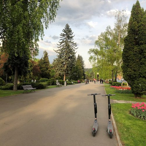 Brasov central park electric scooter rental