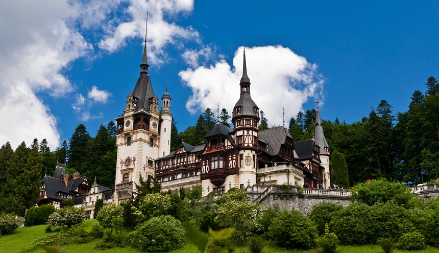 Peles Castle in Sinaia in Summer.
