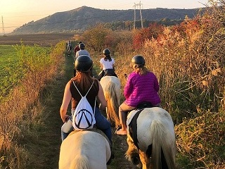 Horseback riding in Brasov in autumn.