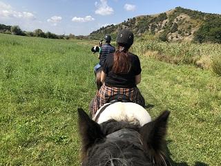 Horseback riding near Brasov.