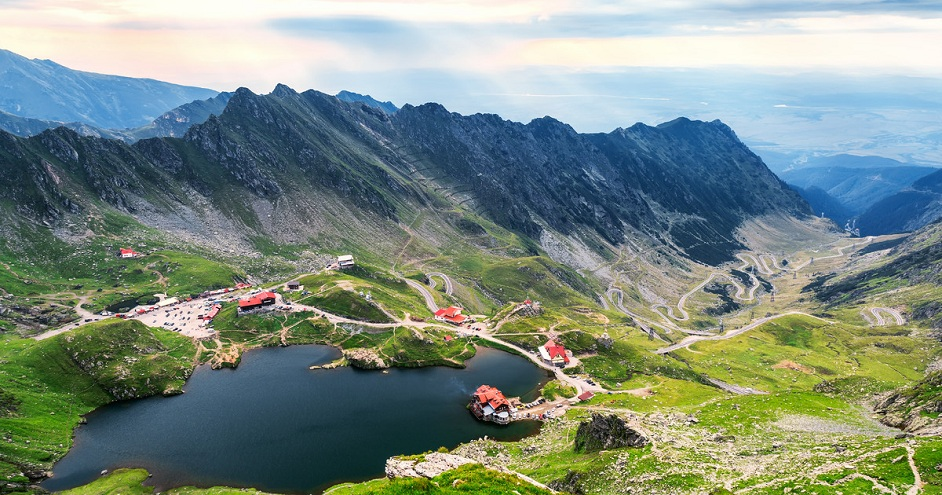 Balea Lake and Transfagarasan mountain road.