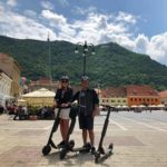escooter tour in brasov main square