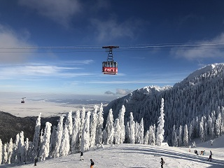Poiana Brasov cable cars in action
