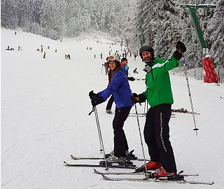 couples ski lessons in Poiana Brasov