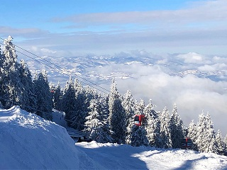 great view over Transylvania from the Postavaru Massif